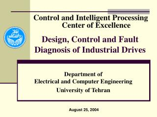 Design, Control and Fault Diagnosis of Industrial Drives