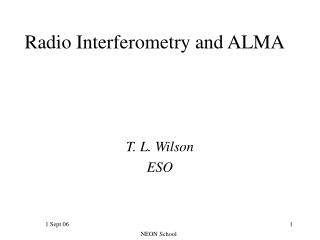 Radio Interferometry and ALMA