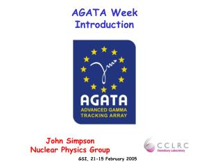 AGATA Week Introduction