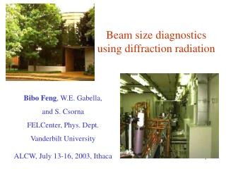 Beam size diagnostics  using diffraction radiation