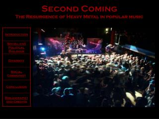 Second Coming The Resurgence of Heavy Metal in popular music