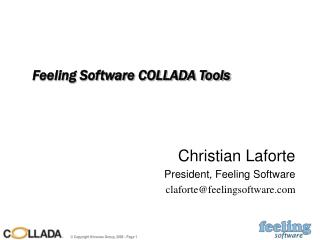 Feeling Software COLLADA Tools
