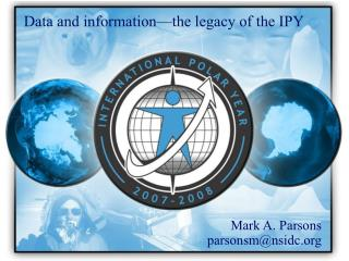 Data and information—the legacy of the IPY