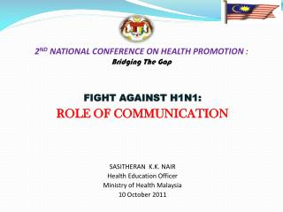 2 ND  NATIONAL CONFERENCE ON HEALTH PROMOTION  :  Bridging The Gap