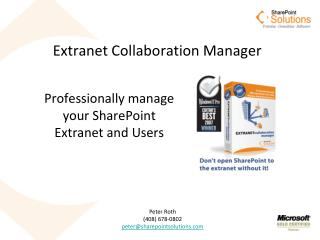 Extranet Collaboration Manager
