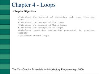Chapter 4 - Loops