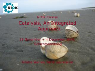 NIOK Course Catalysis, An Integrated Approach 29 November + 4 December 2009,  Schiermonnikoog