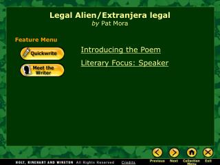 Legal Alien/Extranjera legal by Pat Mora