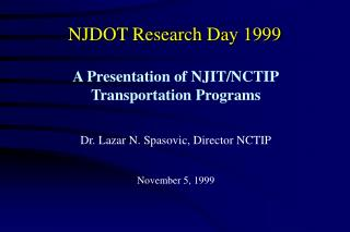NJDOT Research Day 1999