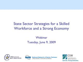 State Sector Strategies for a Skilled Workforce and a Strong Economy
