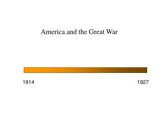 America and the Great War