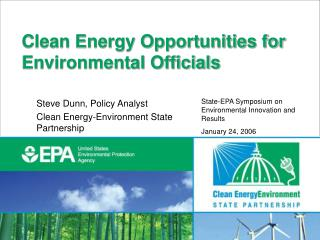 Clean Energy Opportunities for Environmental Officials