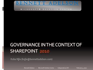 Governance in the Context of SharePoint  2010