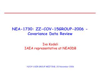 NEA-1730: ZZ-COV-15GROUP-2006 - Covariance Data Review