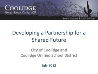 Developing a Partnership for a  Shared Future