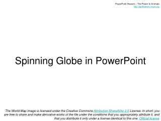 Spinning Globe in PowerPoint
