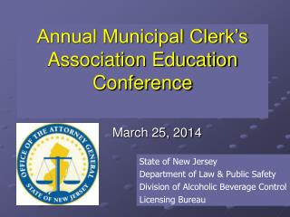 Annual Municipal Clerk's Association Education Conference