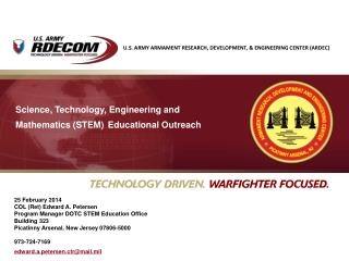 Science, Technology, Engineering and Mathematics (STEM) Educational Outreach