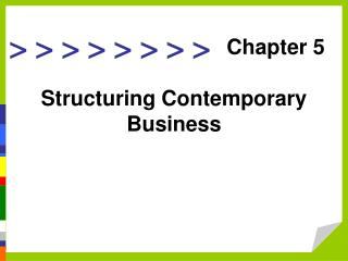 Structuring Contemporary Business