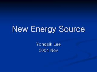 New Energy Source
