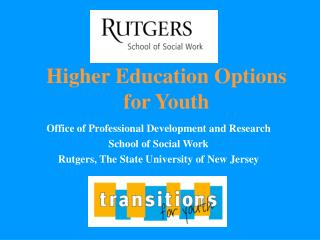 Higher Education Options for Youth