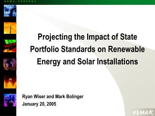 Projecting the Impact of State Portfolio Standards on Renewable Energy and Solar Installations