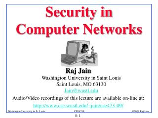 Security in Computer Networks