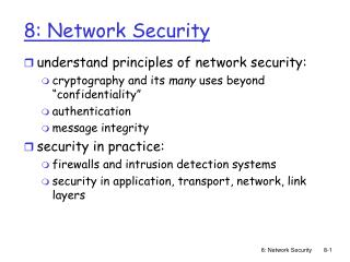 8: Network Security