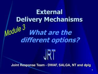 External Delivery Mechanisms