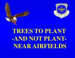 TREES TO PLANT -AND NOT PLANT-  NEAR AIRFIELDS