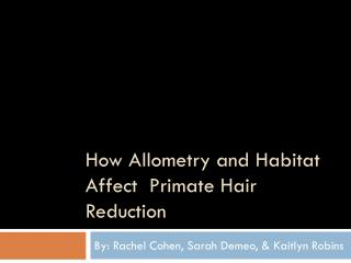 How Allometry and Habitat Affect  Primate Hair Reduction