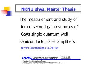 NKNU phys. Master Thesis
