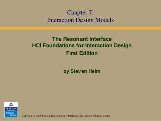 Chapter 7: Interaction Design Models