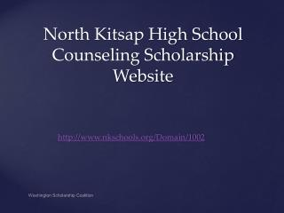 North Kitsap High School Counseling Scholarship Website
