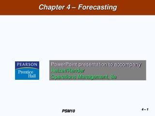 Chapter 4 – Forecasting