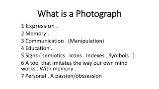 What is a Photograph