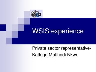 WSIS experience