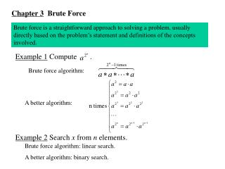 Chapter 3   Brute Force
