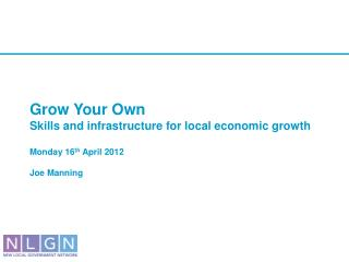 New approaches to local economic growth
