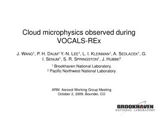 Cloud microphysics observed during  VOCALS-REx