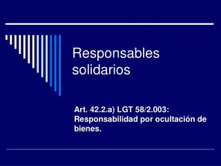 Responsables solidarios