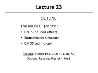 Lecture 23