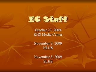 EC Staff