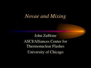 Novae and Mixing