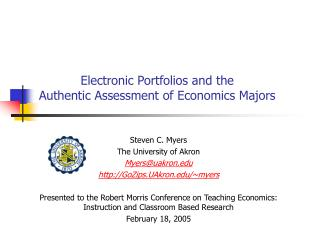 Electronic Portfolios and the Authentic Assessment of Economics Majors