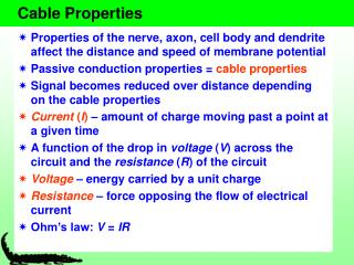 Cable Properties