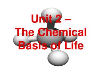 Unit 2 –  The Chemical Basis of Life