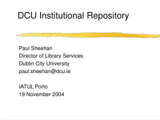 DCU Institutional Repository