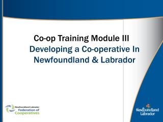 Co-op Training Module III