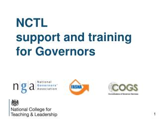 NCTL                   support and training for Governors